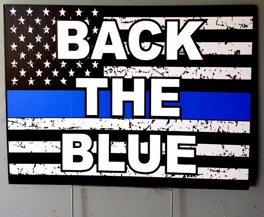 Back The Blue Signs And Stickers For Sale