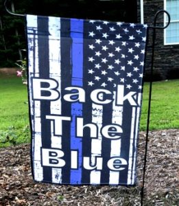 BACK THE BLUE GARDEN FLAGS